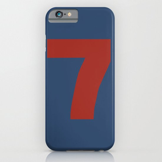 Number 7 iPhone & iPod Case