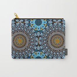 Calligraphic Boho (Blue) Carry-All Pouch