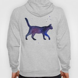 Space Cat Watercolor Hoody