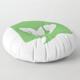 Love for vegan food Floor Pillow