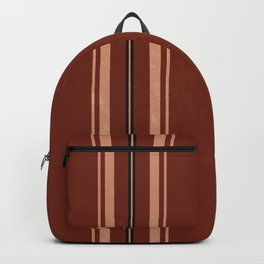 Brown Poncho Pattern Backpack