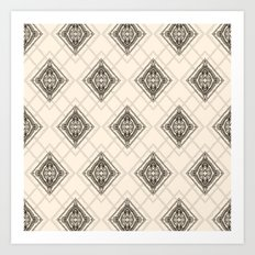 Square Mandala Pattern Art Print