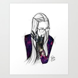 Girl Universe Art Print