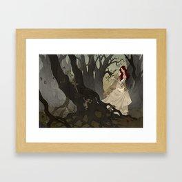 Through the Black Wood Framed Art Print