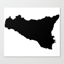 sicilian map Canvas Print
