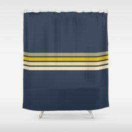 Racing Retro Stripes Shower Curtain