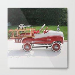 Generic Childs Metal Pedal Car Firetruck Car Metal Print