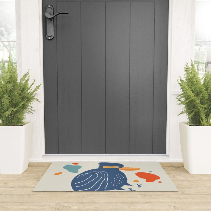 Quirky Laughing Kookaburra Welcome Mat