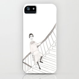 girl on a stair iPhone Case