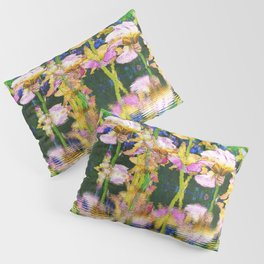 YELLOW IRIS WATER GARDEN REFLECTIONS Pillow Sham
