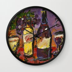 Wine Party  Wall Clock