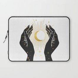 Gold La Lune In Hands Laptop Sleeve