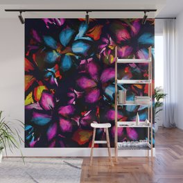 Colorful Tropical Flower Pattern - Desert Rose Abstraction Wall Mural