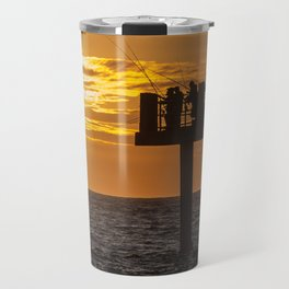 Fishing at Twilight Travel Mug