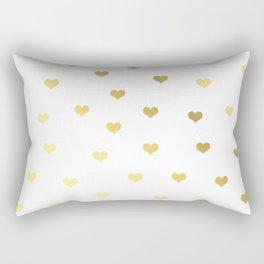 Cute gold hearts Rectangular Pillow