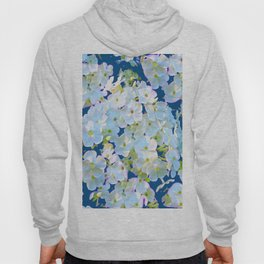 DELICATE TEAL & WHITE LACE FLORAL GARDEN Hoody