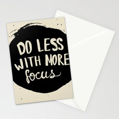 Do less with more focus Stationery Cards