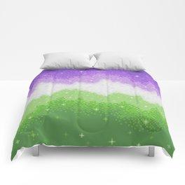 Genderqueer Pride Galaxy Comforters