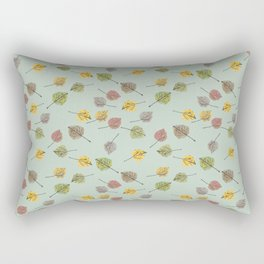 Colorado Aspen Tree Leaves Hand-painted Watercolors in Golden Autumn Shades Rectangular Pillow