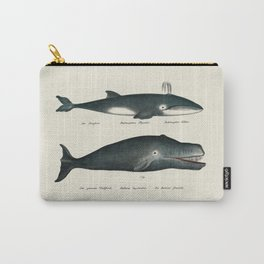 Vintage Whale Art Carry-All Pouch