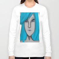 no face Long Sleeve T-shirts featuring Face by LCMedia