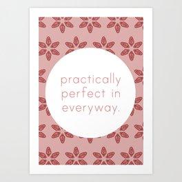 Practically Perfect - Vagina Petals in Pink Art Print