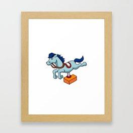 illustration of mechanical horse Framed Art Print