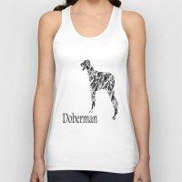 doberman Tank Tops featuring Doberman Scribble by Jake Stanton