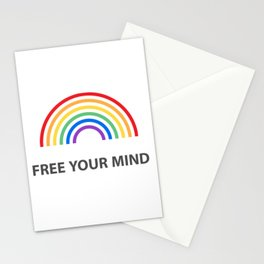 Free Your Mind - LGBTQ PRIDE Stationery Cards