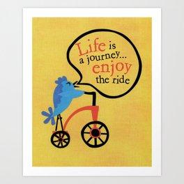 Bird On A Bike Art Print