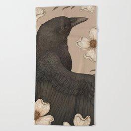 The Crow and Dogwoods Beach Towel