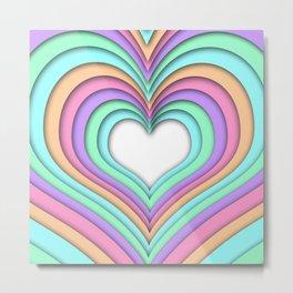 Pastel Heart Metal Print
