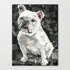 Winnie the Bulldog Canvas Print