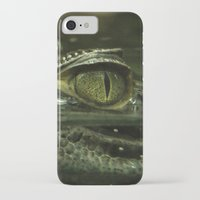 crocodile iPhone & iPod Cases featuring Crocodile by PrinzPhotographie