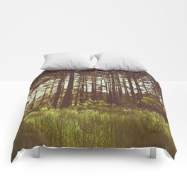 Summer Forest Sunlight - Nature Photography Comforters
