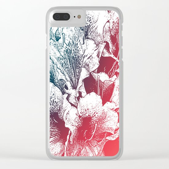Summer flowers Clear iPhone Case
