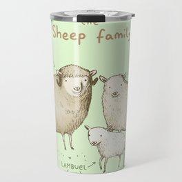 The Sheep Family Travel Mug