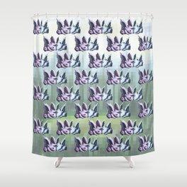 Viridian Snuggle Shower Curtain