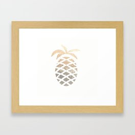 GOLD PINEAPPLE Framed Art Print