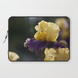 Purple and Yellow Springtime Iris Laptop Sleeve