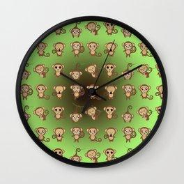 Funny Monkeys Wall Clock