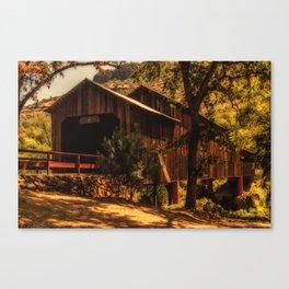 Honey Run Covered Bridge Canvas Print