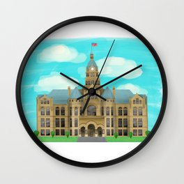 Courthouse - Warren Ohio 100 Wall Clock