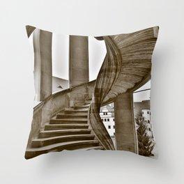Sand stone spiral staircase 11 Throw Pillow