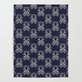 Baroque style floral retro pattern Poster