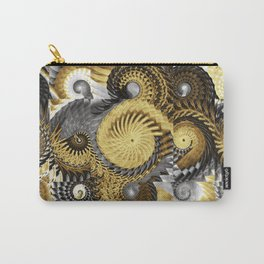 Golden and Silver Twisters Carry-All Pouch