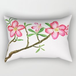 red flower adenium plant Rectangular Pillow