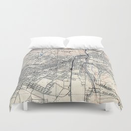 Vintage Map of Los Angeles California (1894) Duvet Cover