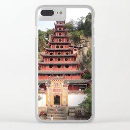 Shi Bao Zhai Buddhish temple Pagoda | Pagode Temple Buddhish Clear iPhone Case