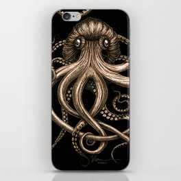 Bronze Kraken iPhone Skin